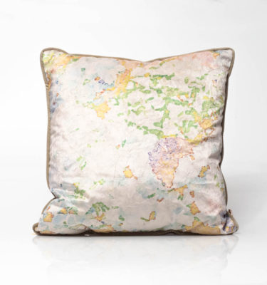hydrangea painterly cushion