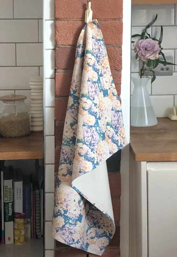 Tea towel hanging in Kitchen